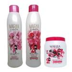 Maria Escandalosa - Kit Progressiva 2x1l + Creme Alisante White 1kg - Nova Embalagem