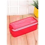 Marmita Hermética com Talher Plástico A0375 Vermelho Basic Kitchen