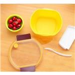 Marmita Hermética Oval A0386 Amarelo Basic Kitchen