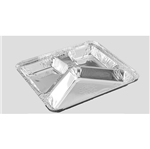 Marmitex de Alumínio D17 900ml Divisória Marmitex de Alumínio D17 900ml C/ Divisória em Y - 100 Unidades