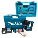 Martelete Rotativo e Rompedor à Bateria + 61 Acessórios HR166DWAX1- Makita