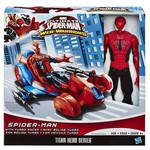 Marvel Ultimate Veiculo Web Warriors Spider With Cycle