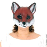 Máscara Animais PVC - Rapoza