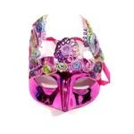 Máscara Carnaval Rosa