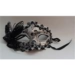 Máscara de Carnaval com Borboleta Prata - Unidade