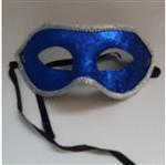 Máscara de Carnaval com Glitter Azul - Unidade