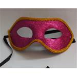 Máscara de Carnaval com Glitter Pink - Unidade