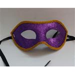 Máscara de Carnaval com Glitter Roxa - Unidade