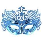 Máscara de Carnaval Veneziana Azul - Unidade