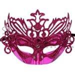 Máscara de Carnaval Veneziana Pink - Unidade