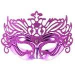 Máscara de Carnaval Veneziana Roxa - Unidade