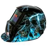 Máscara de Solda Personalizada Trovão C/ Ajuste de Sensibilidade e Escurecimento Automático