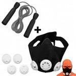 Mascara de Treinamento Respiratorio + Corda de Pular com Rolamento Liveup