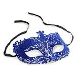 Máscara Elegância Arabesco Acessório Carnaval Azul