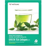 Máscara Facial Wizyoung Green Tea Collagen Essence Mask Pack
