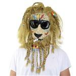 Máscara Leão Rastafari Latex - Sulamericana