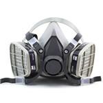 Máscara Respiratória 3m 6200 com Filtros para Pintura Ca 4115