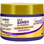 Máscara S.o.s Bomba Matizadora Cabelos Normais a Secos Salon Line 300g
