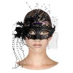 Máscara Veneziana Romantic - Preta