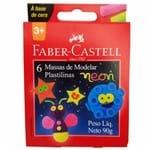 Massa de Modelar 6 Cores Neon Faber Castell 133386