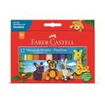 Massa de Modelar Amido 12 Cores Faber Castell