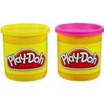 Massa de Modelar Play-Doh 2 Potes Rosa e Amarelo - Hasbro