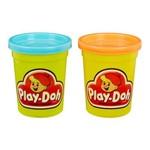 Massa de Modelar - Retrô - Play-doh - Pack com 2 Potes - Turquesa e Laranja - Hasbro