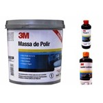 Massa de Polir 1 Kg + Liquido Lustrador + Finesse-it Kit 3m