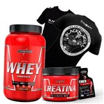 Massa Magra Whey Wey Way Proten Blend + Creatina 150g + Camisa Black Skull