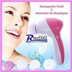 Massageador Automático Facial 5 em 1 Removedor de Maquiagem