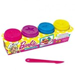 Massinha Barbie 4 Potes 50g Cada - Fun