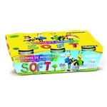 Massinha de Modelar Soft Acrilex com 06 Cores - Ref. 07306