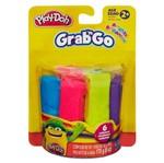Massinha Play-Doh Grab N Go Brilhante com 6 Unidades - Hasbro