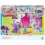 Massinha Play-doh My Little Pony - Diversão Fashion - 6 Potes