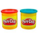 Massinha Play-Doh - 2 Potes Vermelho e Azul - Hasbro