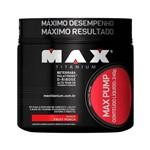 Max Pump 240g Fruit Punch Suplemento Max Titanium Pré Treino Cafeína