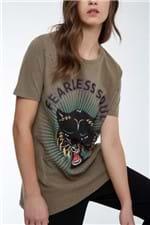 Maxi T-Shirt Fearless Soul Shitake Marrom Shitake - P