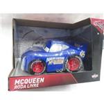 Mcqueen Azul Cute Roda Livre Carros Disney - Toyng 33439