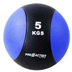 Medicine Ball 5 Kg Proaction G412 Emborrachada Azul e Preta