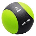 Medicine Ball 3 Kg Proaction G411 Emborrachada Verde e Preta