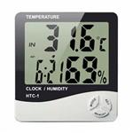 Medidor Digital de Umidade Ar e Temperatura Relógio