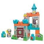 Mega Blocks - Spin And Play - Castelo e 2 Block Buddies - Mattel