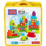 Mega Bloks First Builders Sacola ABC 40 Peças - Mattel