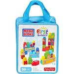 Mega Bloks First Builders Sacola Letras 30 Peças - Mattel