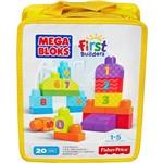 Mega Bloks First Builders Sacola Números 20 Peças - Mattel