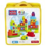 Mega Bloks - Sacola Blocos Abc 40 Peças - Fisher Price