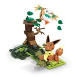 Mega Construx Pokemon Rowlet Vs Eevee - Mattel