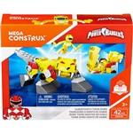 Mega Construx Power Rangers Boneco e Zord Sabertooth Zord - Mattel