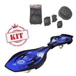 Mega Skate Boy Radical Azul Acompanha Kit Proteção Forth Premium Fênix