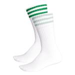 Meia Adidas Solid Crew Branca+verde 35-38
